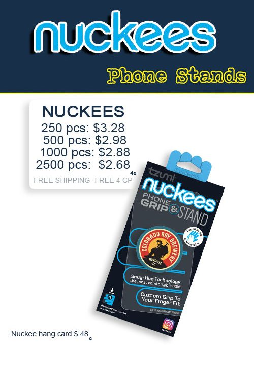 Is the nuckee phone stand better than pop socket? You decide. nuckee phone grip and nuckee media stand are perfect for your business or event logo.