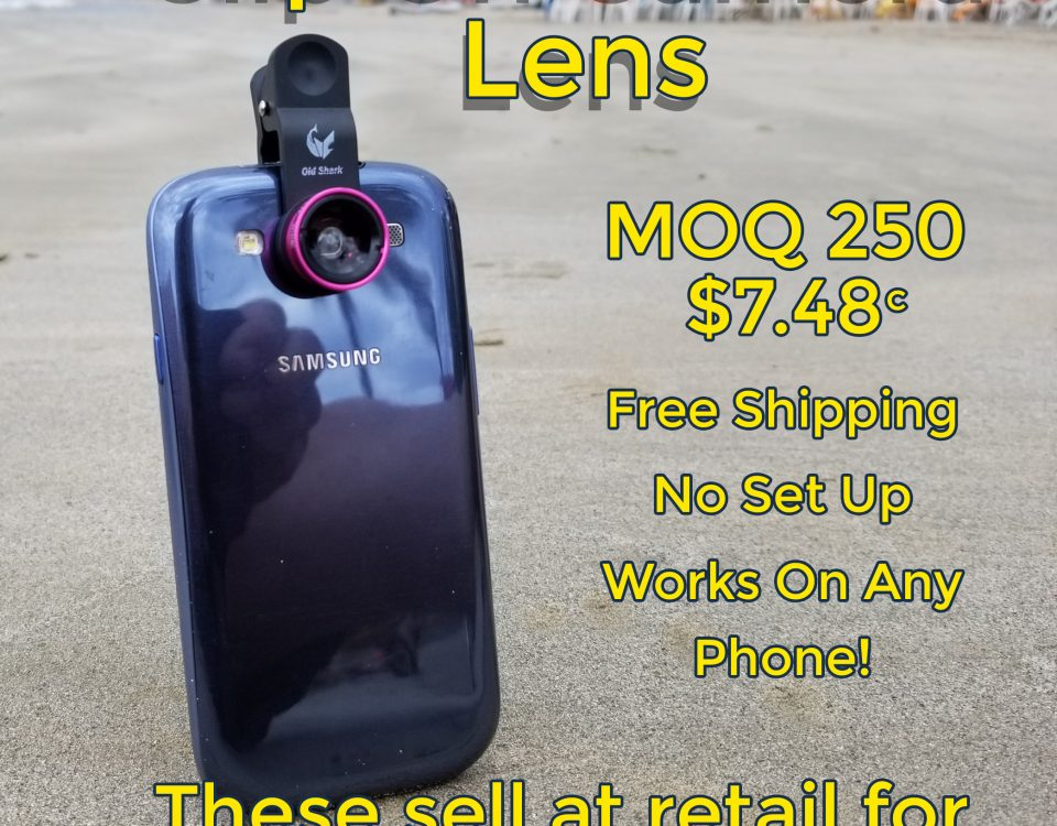 promotional product clip on camera lens