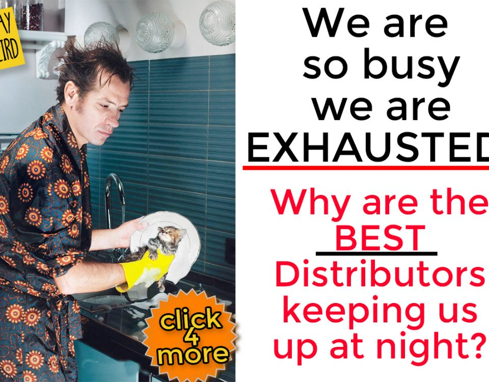 We are losing sleep and totally exhausted because promotional product distributors are keeping us hopping 24/7! Why is that? Promo Motive is incredibly busy these days as distributors from around the country and around the globe are looking at us for the latest in innovative and creative promotional swag.