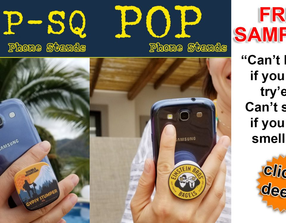 popsocket for promo, tradeshow and b2b marketing swag. Ge