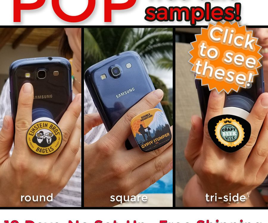 new shapes of pop sockets for business t o business promo