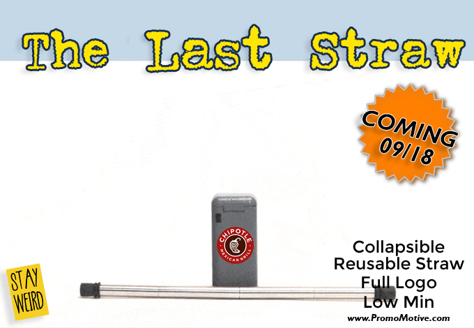 collapsible drinking straw for promotional promo
