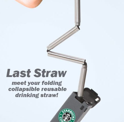 last straw folding reusable drinking straw