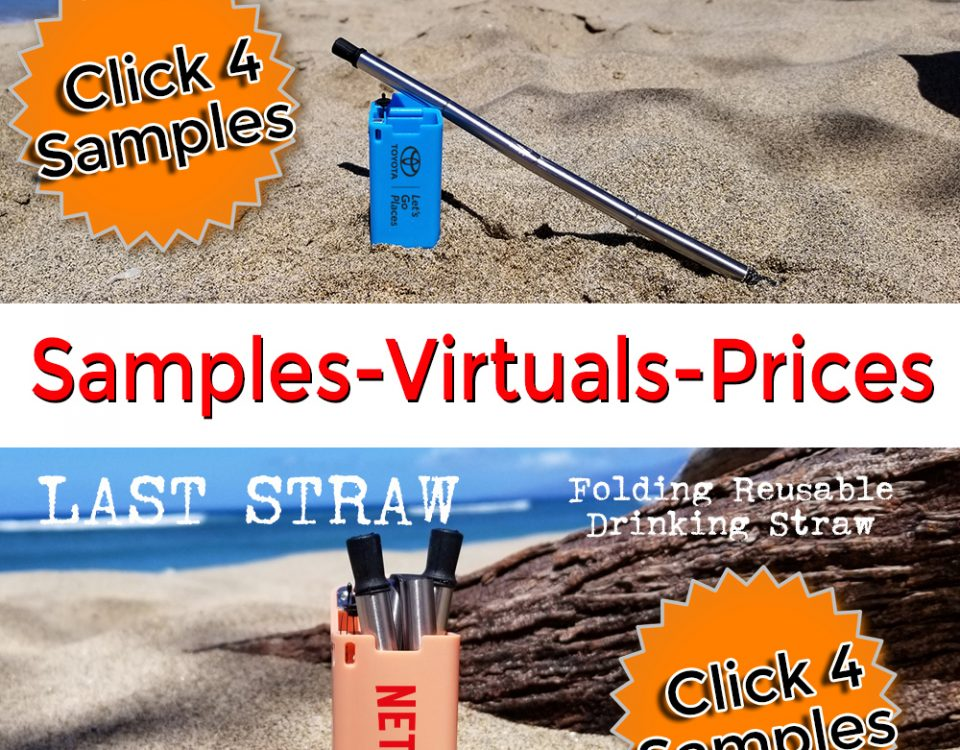 free samples of folding reusable collapsible drinking straw