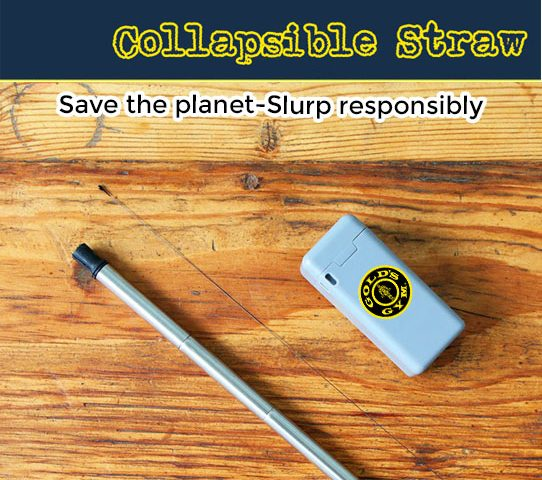 Get your logo on a folding reusable drinking straw. Last Straw