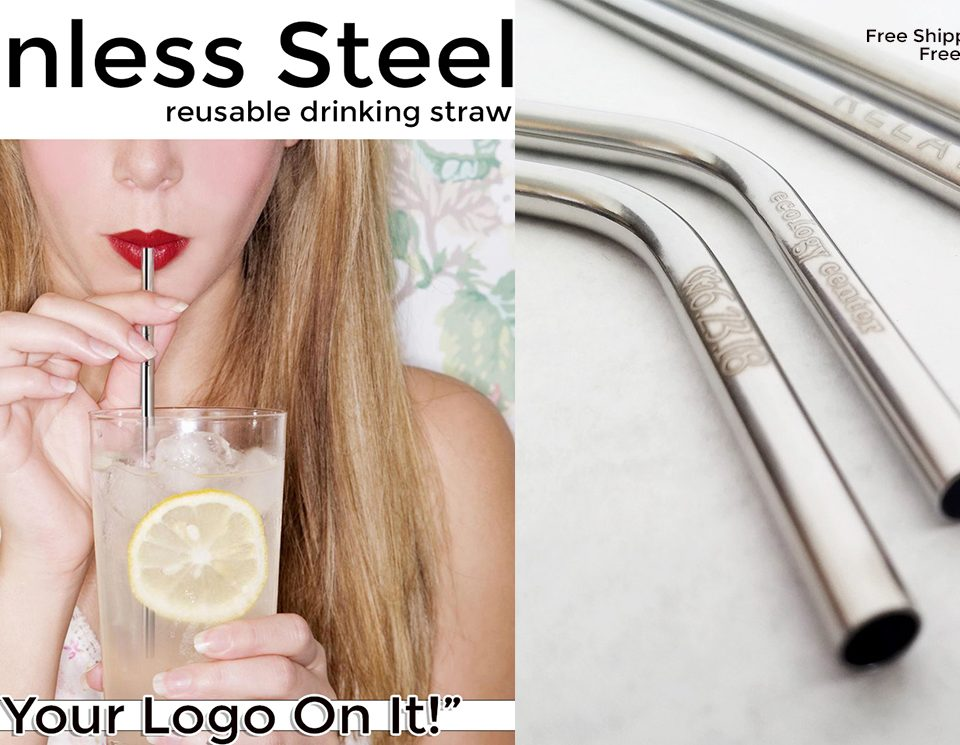 promotional stainless steel drinking straw