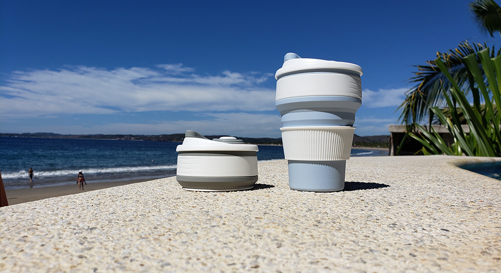 silicone folding coffee cup for promotional product