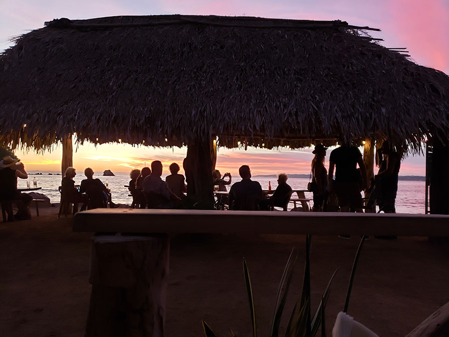 sunset on the beach in mexico