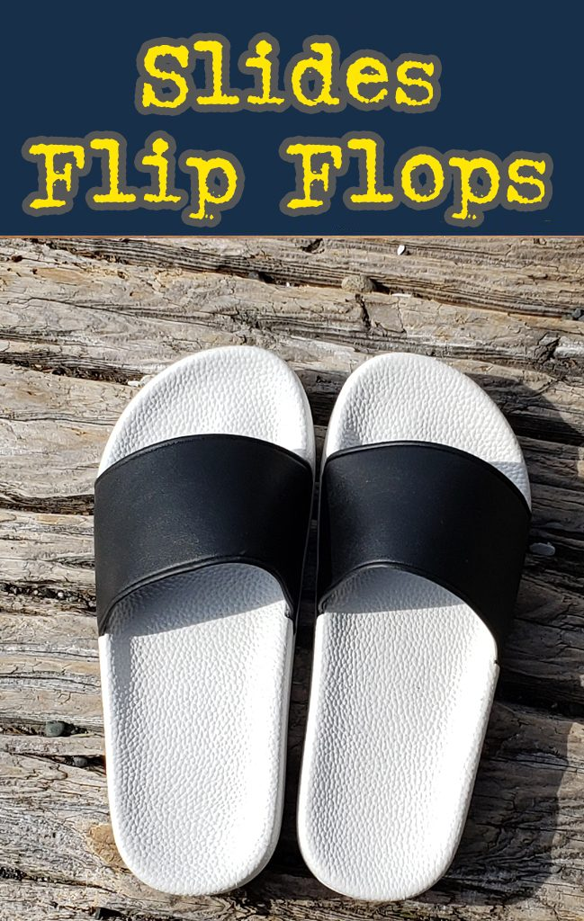 slides, flip flops. Custom wholesale bulk promotional slides.