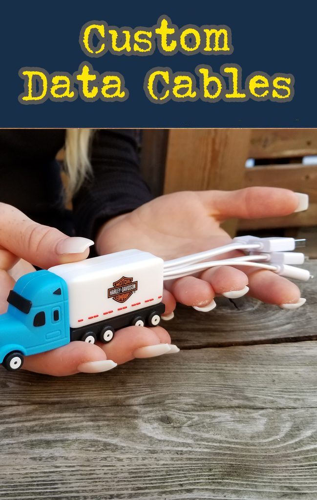 3 D custom molded promotional products all at wholesale prices. Custom USB flash drives, portable power banks and custom molded data cables are great for your promotional products.