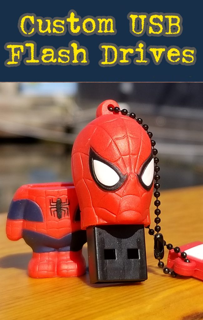 Spiderman custom shaped flash drive.