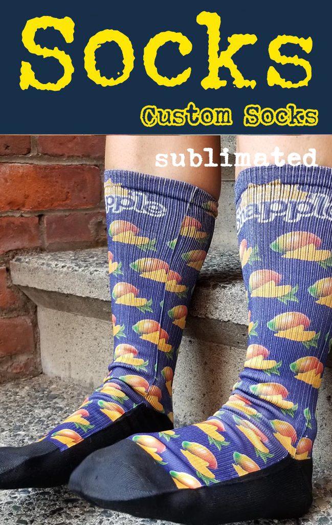 Sublimated 4 color promotiona; socks