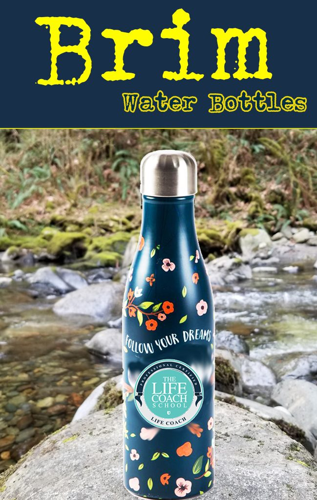 Full image wrap stainless steel water bottle with vacuum. Keeps drinks hot or cold.