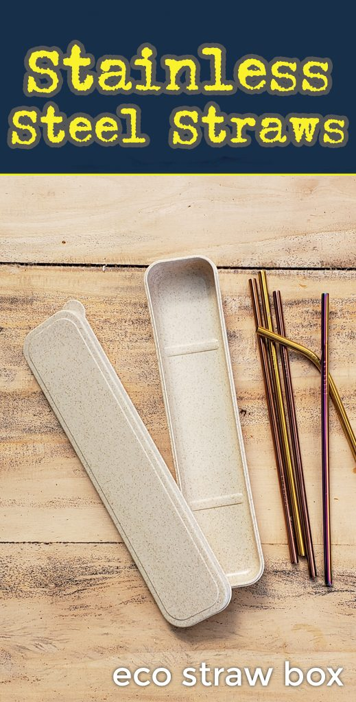 Eco Straw Box. Stainless steel drinking straws for promo. Bulk wholesale.