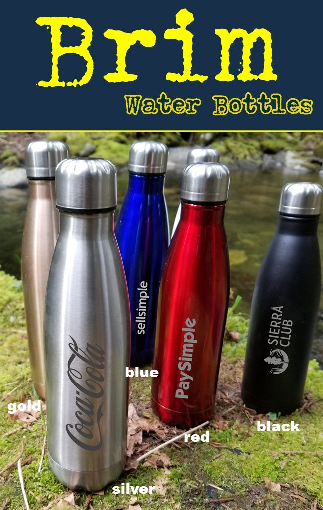 Swell vacuum style stainless steel drinking waterbottle.