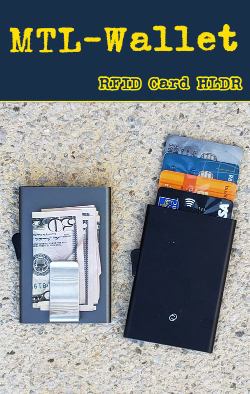 RFID Metal wallet and money clip.