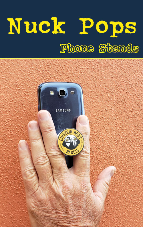 The nuckee is a great way to show your logo on a pop phone stand. Wholesale, bulk.