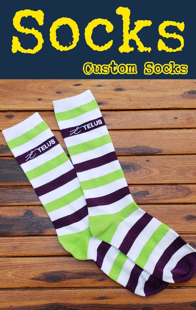 Knit custom promotional socksKnit custom promotional socks