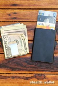 RFID metal wallet. Embrace your inner geek with these amazing inexpensive bulk promotional products. Get your logo or corporate brand on these factory direct promotional products and trade show swag.