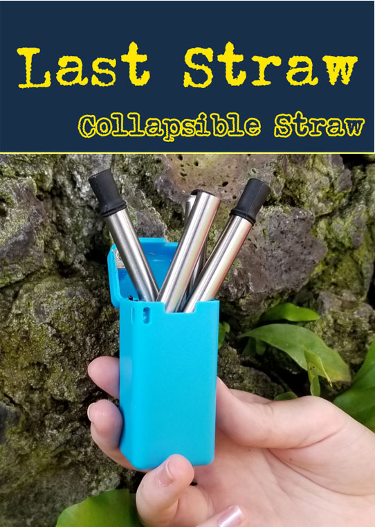 Folding stainless steel drinking straw. The folding straw is one of todays top sellers.