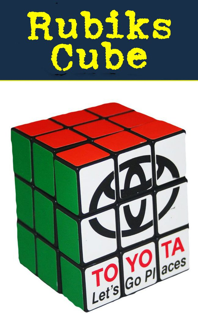 Rubiks Cube wholesale bulk promotional fidget gadget.  Get your logo on this evergreen fidget gadget.