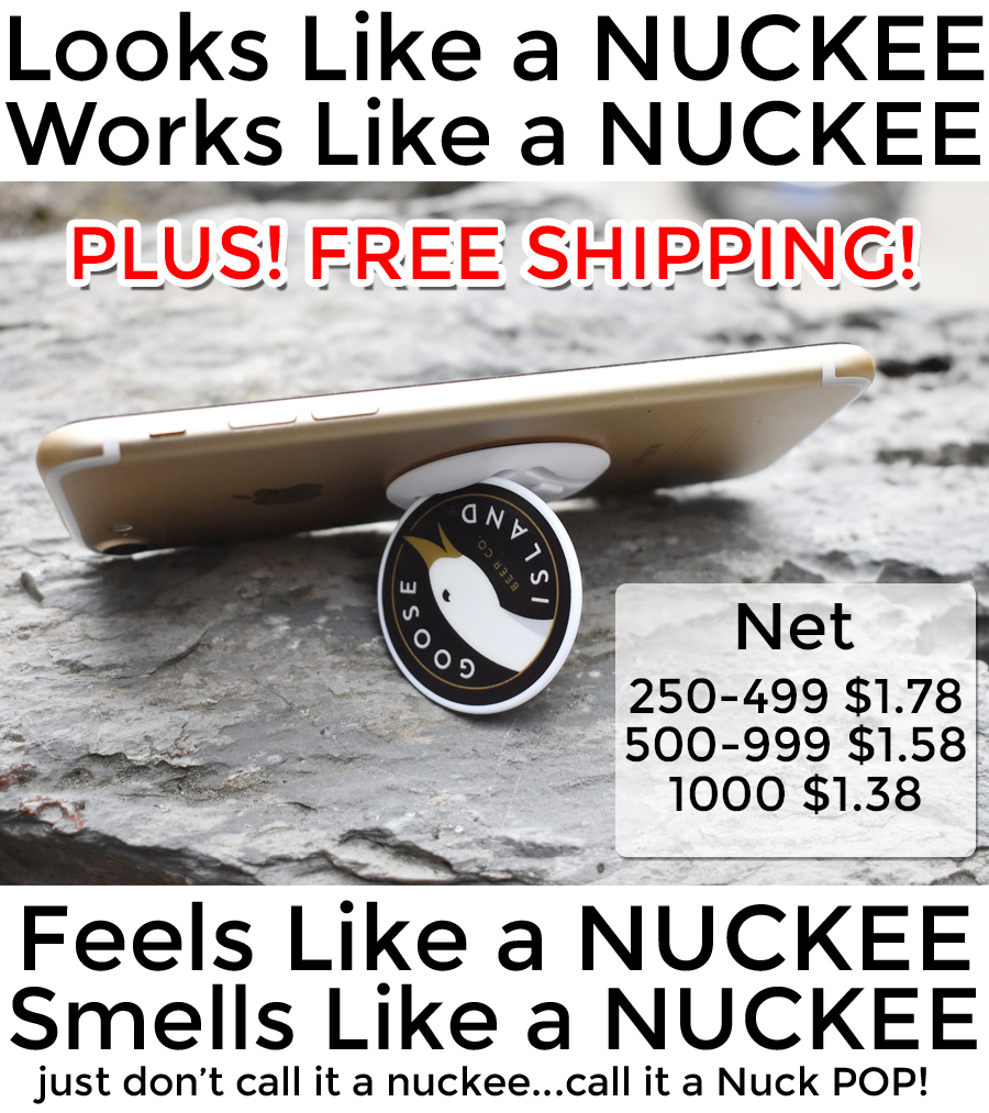 Nuckee style POP Phone grips and phone stands