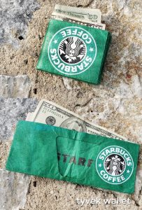 Tyvek paper wallet. Embrace your inner geek with these amazing inexpensive bulk promotional products. Get your logo or corporate brand on these factory direct promotional products and trade show swag.