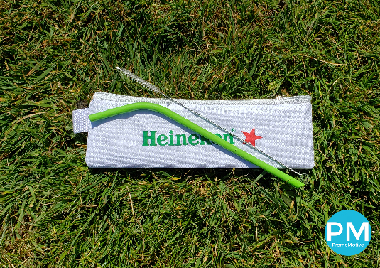 promo motive promotional products silicone drinking straw and case