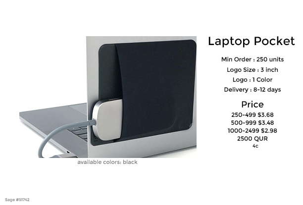 Laptop pocket promotional product