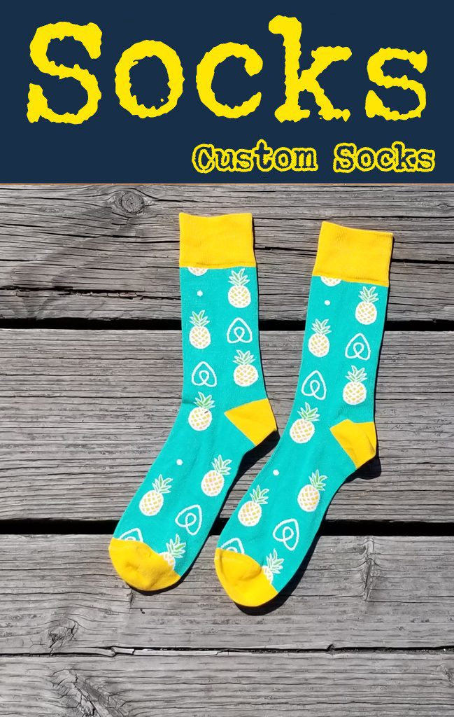Get your logo on custom promotional knit socks.