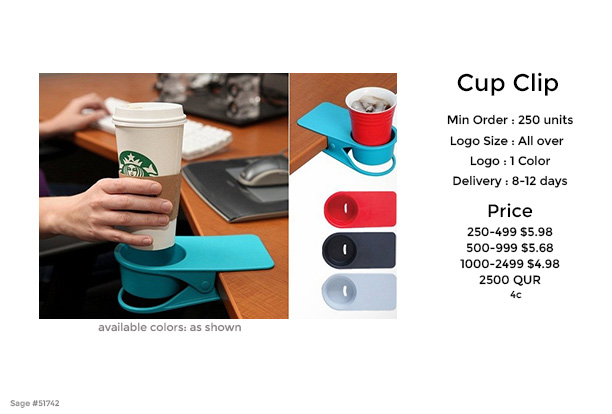 coffee cup clip promotional product