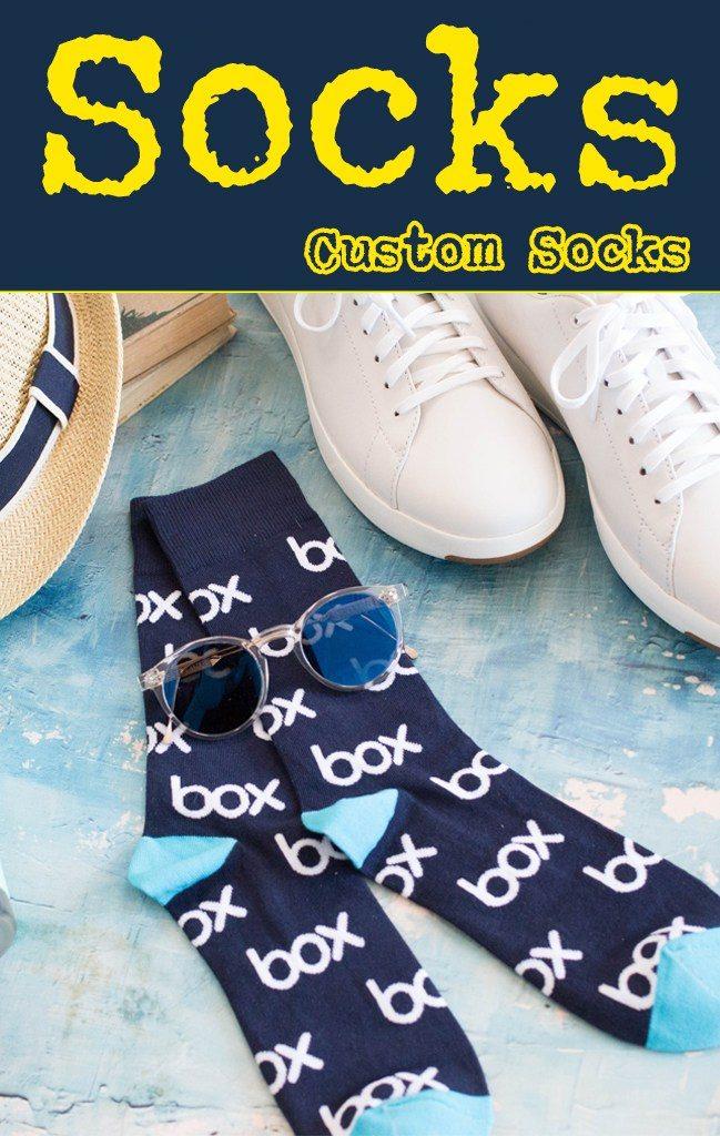 Get your logo on custom promotional knit socks.
