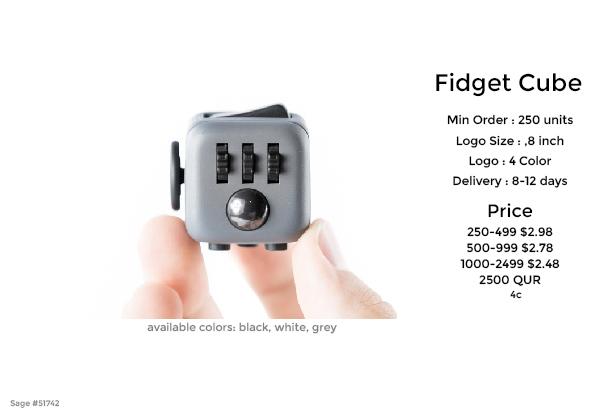 fidget cube promotional product