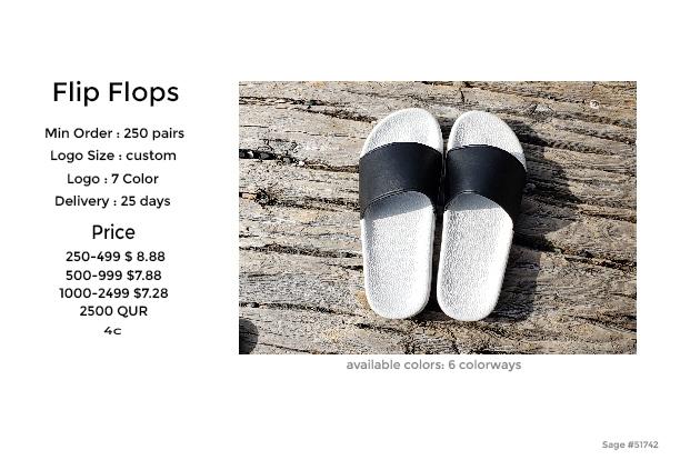 flip flop sandals promotional products