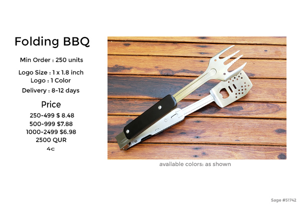 folding collapsible barbque tong and flipper
