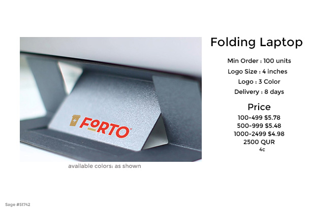 folding laptop stand moft for promotional product giveaway