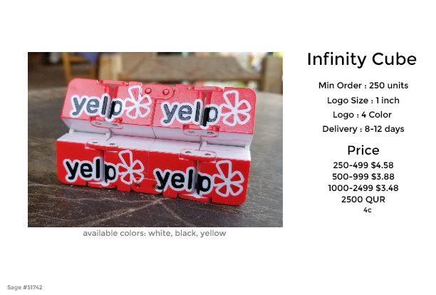 infinity cube promotional product