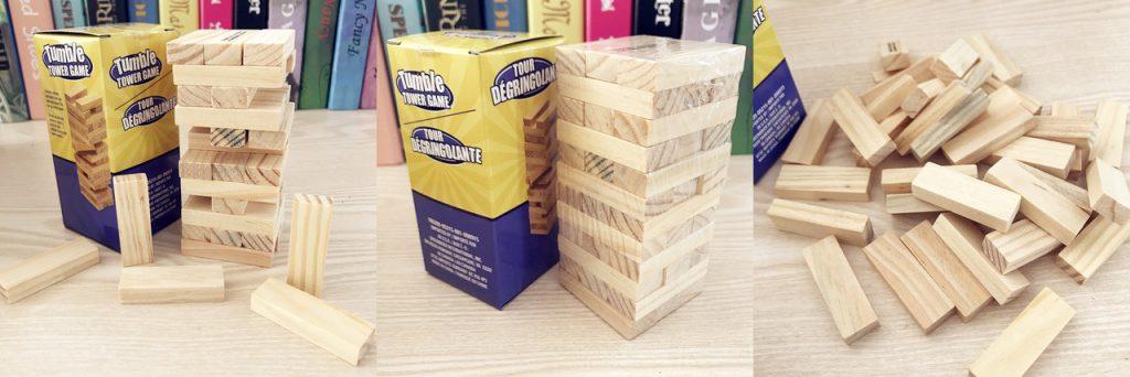 custom promotional mini jenga wood puzzle