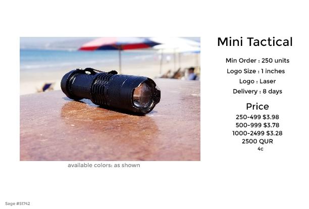 mini tactical flash light