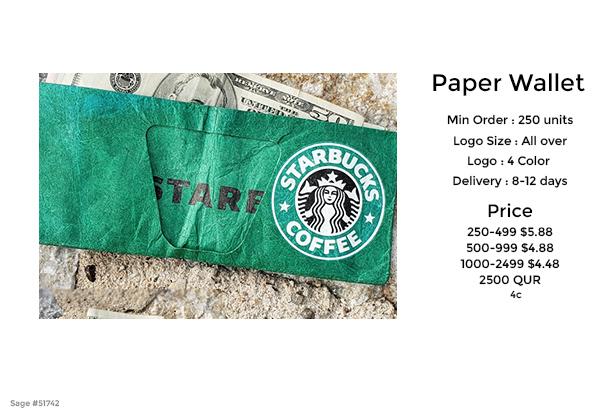 paper tyvek wallet