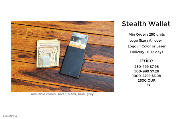 stealth wallet promotional product