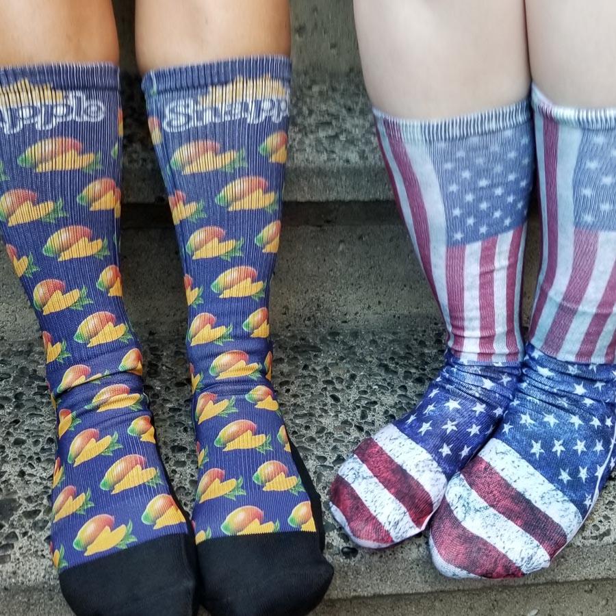 sublimated socks for logo