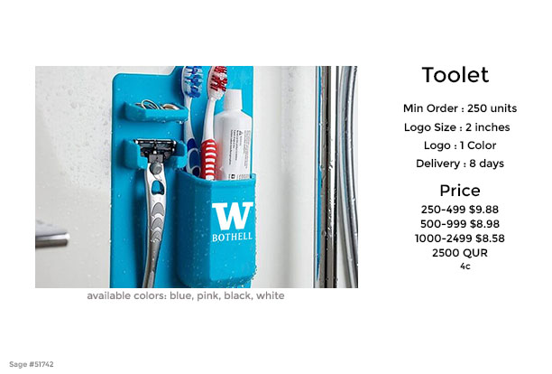 toolet shower caddy promotional product