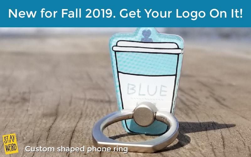 custom shaped phone ring promotional product