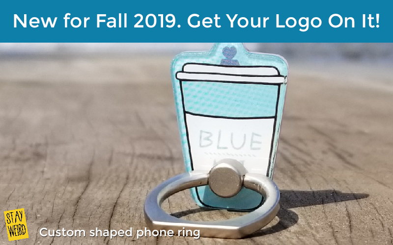 custom shaped phone ring promotional product