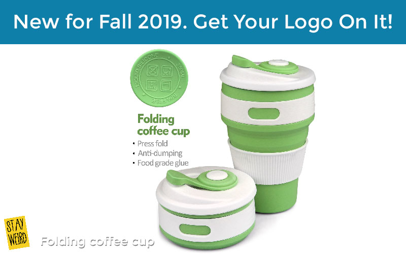 folding coffee cup promotional product