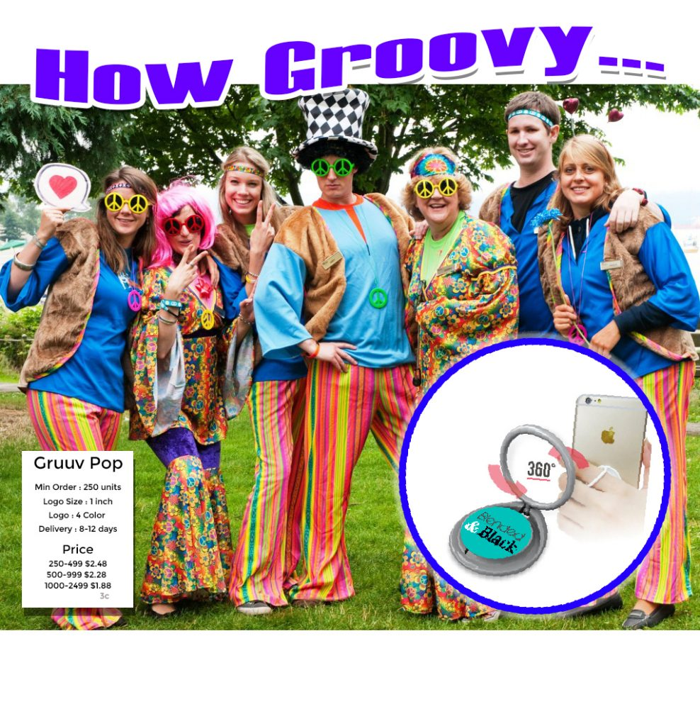 groovy pop grips for promotional product marketing