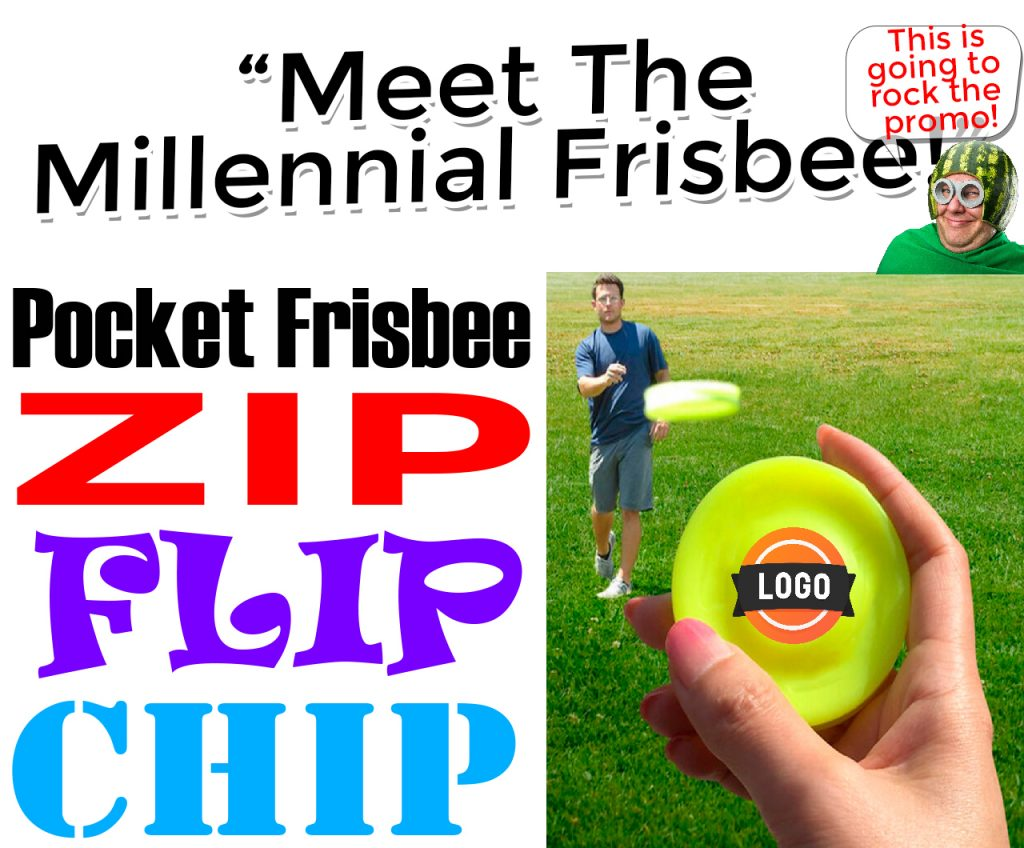 zip chip frisbee promotional product