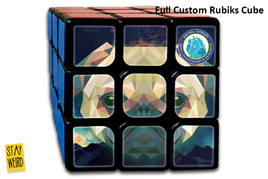 inexpensive custom rubkis cubes.