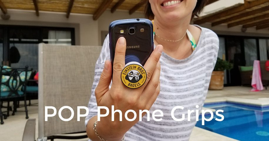 Pop phone grips and accordion socket style phone stand. Get your logo on this promotional product. Show it off on your phone and logo your pop phone socket